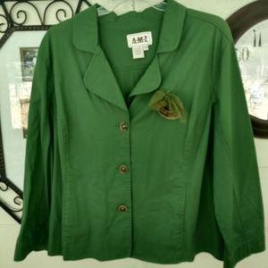 Green Jacket/Blazer EUC AMX sz 3X